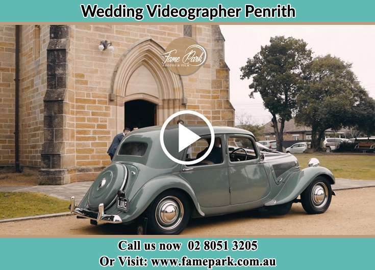 The Bridal Car Infront Of The Church Penrith